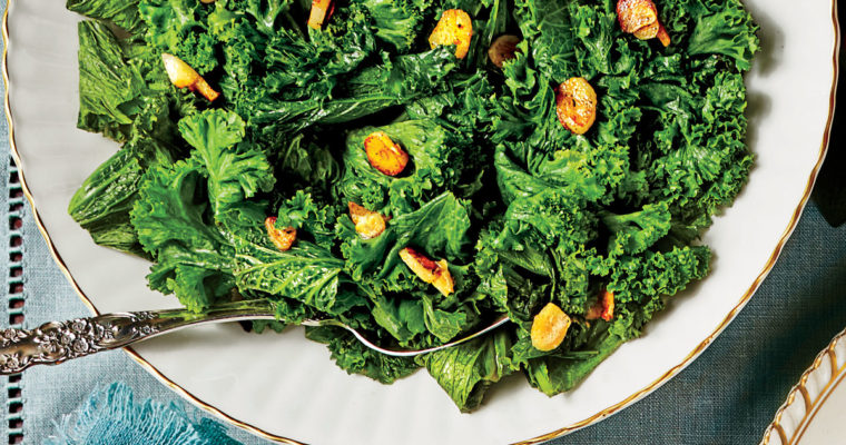 Sauteed Mustard Greens with Garlic and Lemon